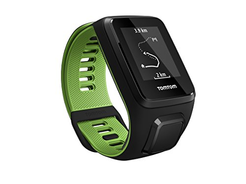 Tom Tom Runner 3 GPS Running Watch – Large Strap, Black/Green