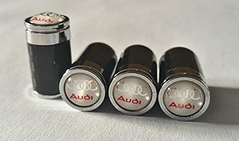 Capuchons de valve en fibre de carbone avec coffret cadeau pour Audi A1A3A4A5A6A7A8Q3Q5Q7R8TT RS E-TRON Blanc - Valvola In Fibra Di Carbonio