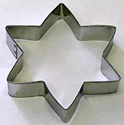 RM Magen David Star of Metal Cookie Cutter for Jewish Holiday Baking / Christmas Hannukah Party Favors / Scrapbooking Stencil 5