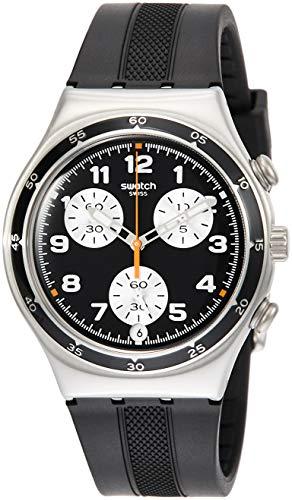 Orologio Swatch Irony Chrono YCS598 Al quarzo (batteria) Acciaio Quandrante Nero Cinturino Silicone