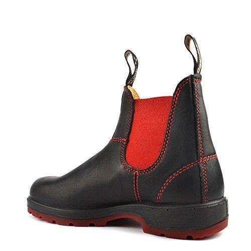 Blundstone Chaussures 1316 Boots en Cuir, Femme Noir/Rouge