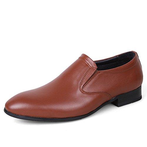 ailishabroy Männer 100% Leder Formal Brogue Geschäft Kleid Schlüpfen Schuhe Große Größe 49 50 Rote