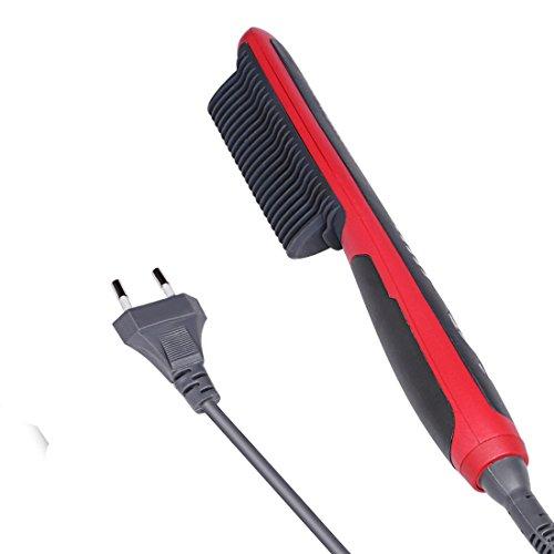 Alisador para el pelo con peine, de cerámica, eléctrico