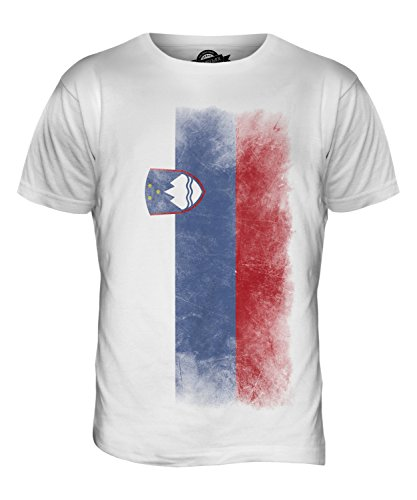 CandyMix Slowenien Verblichen Flagge Herren T Shirt Weiß