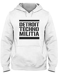 Sudadera con Capucha para Hombre Blanca WTC0854 Detroit Techno Militia 3af3c6b8fad
