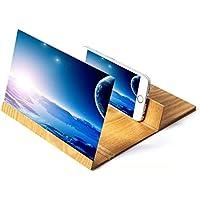 DAMAI Pantalla del Teléfono Móvil Lupa Portátil 3D Tamaño Vídeo De La Película Ampliación del Soporte del Amplificador De Pantalla,Yellow