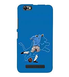PrintVisa Football Player Lion 3D Hard Polycarbonate Designer Back Case Cover for Lenovo Vibe C :: Lenovo A2020