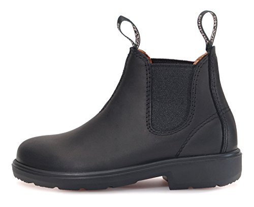 YABBIES Town & Country Chelsea Boots for Kids | Kinder Unisex Stiefelette aus Leder | Black / Schwarz Schwarz (Black)