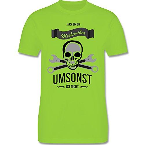 Handwerk - Mechaniker Umsonst ist nicht - Herren Premium T-Shirt Hellgrün