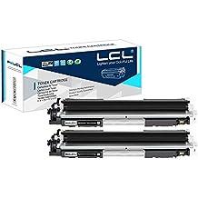 LCL(TM) 130A CF350A (2-Pack Negro) Cartuchos de Tóner Compatible para HP Color LaserJet Pro MFP M176n M177fw