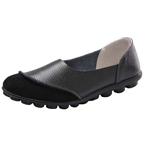 Vovotrade Damen Mokassin Bootsschuhe Leder Loafers Fahren Geeignet für Sommer, komfortabel und stilvoll einfarbig