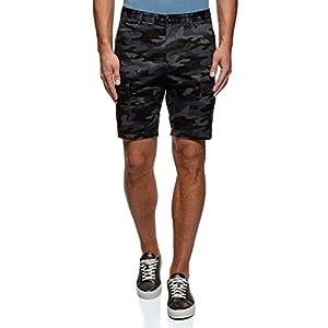 oodji Ultra Uomo Pantaloncini in Cotone con Tasche Applicate 12 spesavip