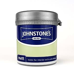 Johnstones No Ordinary Paint Peinture à base d'eau en vinyle émulsion Mat Pot testeur Crush citron vert 75 ml