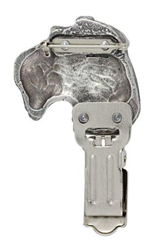 Drahthaar -Foxterrier, Silberstempel 925, Hund clipring, Hundeausstellung Ringclip/Rufnummerninhaber, limitierte Auflage, Artdog -
