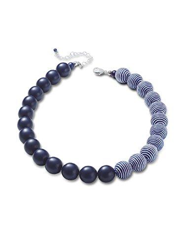 Walbusch Damen Kugelkette Demi, mehrfarbig, angesagter Mustermix Blau