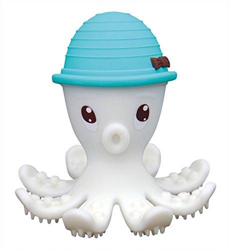 Mombella Jouet de Dentition Pieuvre 3D Bleu