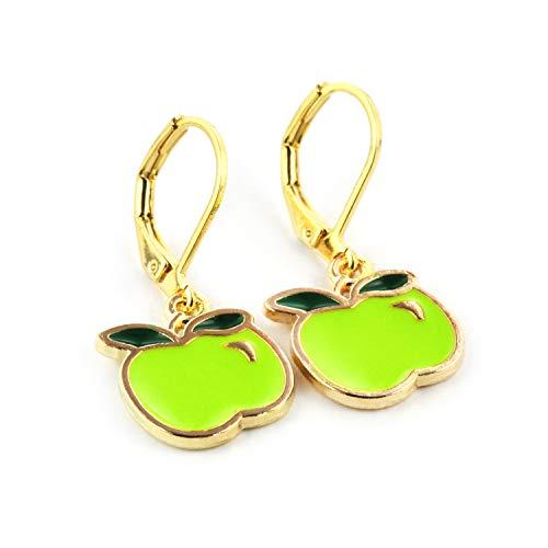 SCHMUCKZUCKER Damen Ohrhänger Apfel Modeschmuck Ohrringe Gold-farben ()