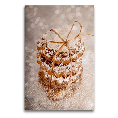 Calvendo Premium - Tela in Tessuto, 60 cm x 90 cm, Motivo: Biscotti di Burro Natalizi