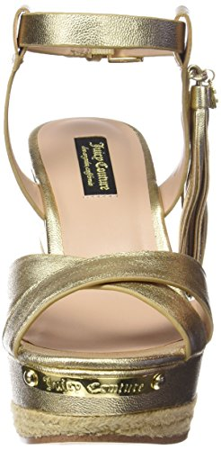 Juicy Couture Simone, Sandales Plateforme femme Or - Gold Leather