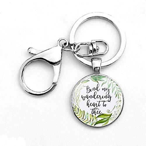 Hengxing Gott ist in ihrem Glas Halskette Christian Inspirational Zitat Anhänger Schlüsselanhänger, Silber Stil 11