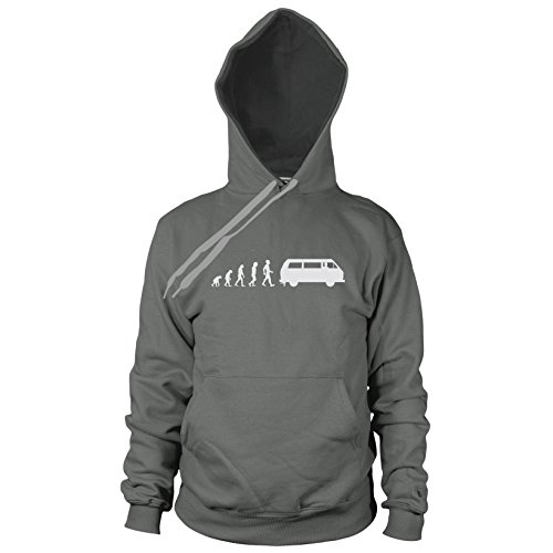 Bulli T3 Evolution - Herren Hooded Sweater, Größe: L, Farbe: grau