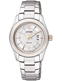 Citizen Damen-Armbanduhr Analog Quarz Edelstahl FE1014-56A