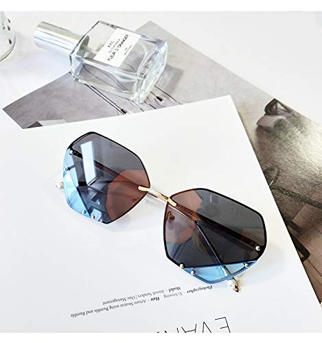 YSFU Sonnenbrillen Große Sonnenbrille Weibliche Modelle Uv400 Mode Große Box Sonnenbrille...