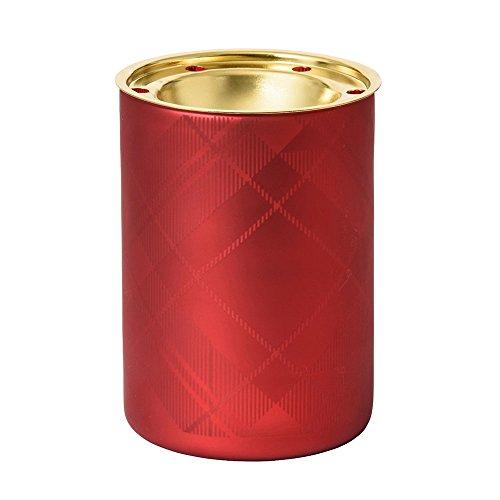 Flicker Yankee Candle (Yankee Candle 1521360 Tartan Flicker Mw Duftlampe, Glas, Rot, Gold, klar, 10 x 10 x 15 cm)