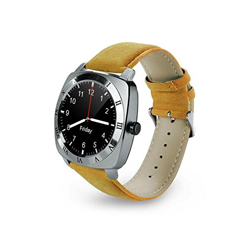 Mobilefit X3 Smart Watch receive and make calls/call a taxi/browse through plenty of apps/track your fitness activity/230mAh of battery life/exercise and work out in style_(GOLDEN) Compatible for Micromax Canvas Mad A94  available at amazon for Rs.2999
