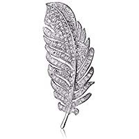 KUNQ Süße Brosche/Crystal - Brosche Weiblich Hochwertige Brosche Luxuriöse Atmosphäre Eleganten Feder Zubehör.