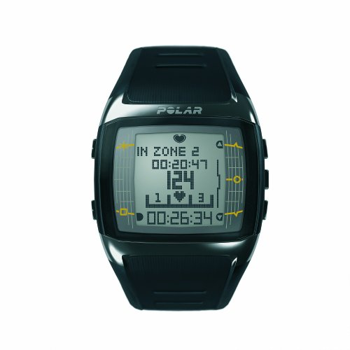 Polar FT60M – Reloj con pulsómetro y compatible con GPS, con transmisor WearLink+ para fitness y cross-training (negro/blanco)