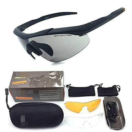 Z.L.F Brille Mode Sport-Sonnenbrillen für Radfahren Angeln Golf Baseball polarisierte Sonnenbrille Unisex-Brille (Color : Schwarz, Size : One Size)