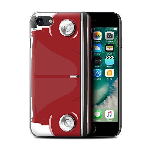 Coque de Stuff4 / Coque pour Apple iPhone 7 / Rayures Course Design / Rétro Coccinelle Collection Rouge d'Afrique