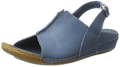 Andrea Conti 0773426, Sandales  Bout ouvert femme Bleu jean