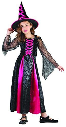 Hexen-Kostüm für Mädchen 140/152 (10-12 Jahre) (Hexe Mädchen Kostüm)