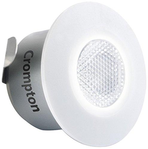 Crompton Star Domestic Recessed 2-Watt LED Spot Light (Cool Day Light, Round)