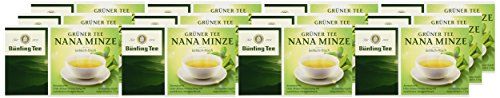 Bünting Tee Grüner Nana Minze 20 x 1.75 g Beutel, 12er Pack (12 x 35 g)