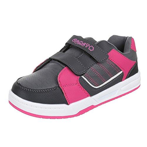 Chaussures pour enfants, ft 4, de loisirs chaussures sneakers sportive Gris - Grau Rosa