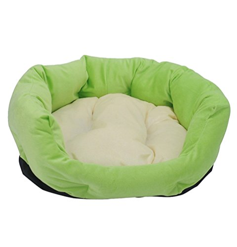 YiJee Warm Verdickung Haustiernest Waschbar Hundehütte Hundebett Katzenbett Grün (Kuschelige Kätzchen Kostüme)