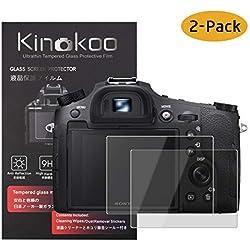 kinokoo Film de Verre trempé pour Sony DSC-RX10/RX10M2/RX10M3/RX10M4 Film de Protection d'écran Crystal Clear Sony sans Bulles/Anti-Rayures (Paquet de 2)