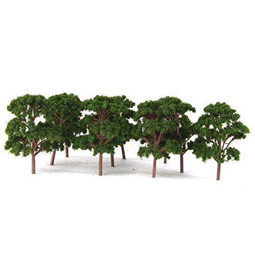 Generic 10pcs Banyan Trees Model Train Scenery Landscape Scale 1:75 Green