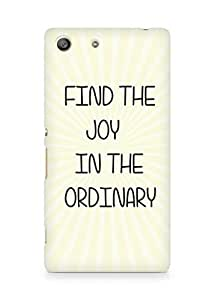 AMEZ find the joy in the ordinary Back Cover For Sony Xperia M5