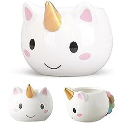 Taza de ceramica,Taza unicornio de café con mango de colores para el regalo de cumpleaños y reyes