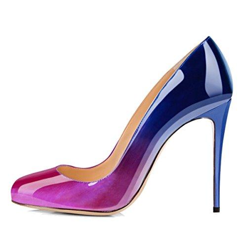 uBeauty Scarpe da Donna - Scarpe col Tacco - Classiche Scarpe col Tacco - Punta Rotonda Viola