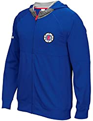 """Los Angeles Clippers Adidas 2016 NBA Men's On-Court """"Pre-Game"""" F/Z Hooded Jacket Veste"""