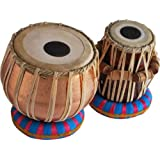 Sai Musical Sheesham Wood Tb-0090 Hand Made Lacquer Polish Copper Tabla Set Bronze Color - a Musical Instrument.