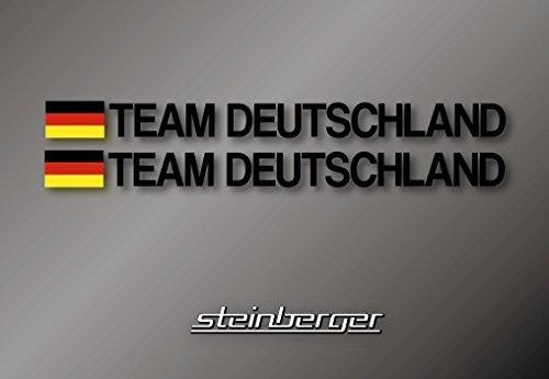 Preisvergleich Produktbild 2x TEAM Deutschland Aufkleber WM EM 2018 2020 2022 Fußball Handball Sticker 30cm