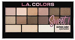 L.A Colors Sweet 16 Color Eyeshadow Palette, Charming, 20g