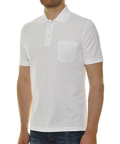 """RAGMAN Herren Poloshirt """"Pima de Lima"""" Weiss-006"""