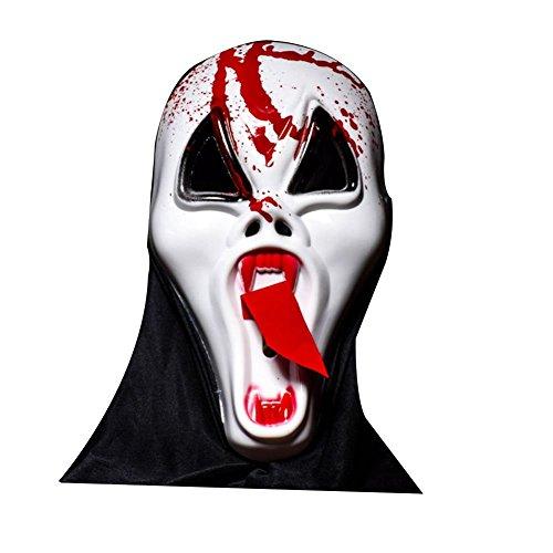 Bluelover Halloween Bar Haunted Voll Gesicht Scary Mask Lange Gesicht Zunge Vampir Schädel Ghosts Dress up